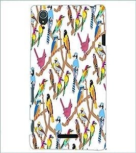PRINTSWAG BIRDS Designer Back Cover Case for SONY XPERIA T3