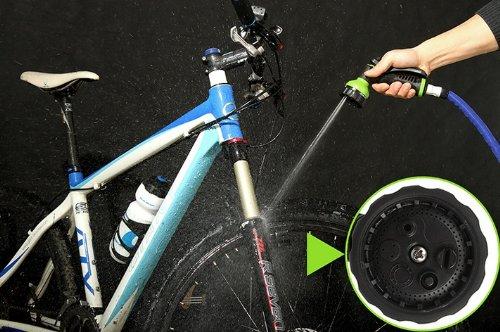 【Ninja】 日本仕様!水圧で自在に3倍伸縮 5m→15m 楽々便利ホース マルチシャワーノズル付  生地のようにソフトな素材で車の表面が傷つかない! X hose ホース