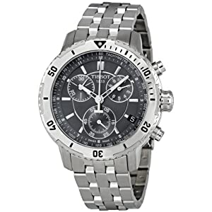 Tissot PRS 200 Chronograph Black Dial Quartz Sport Mens Watch T0674171105100
