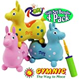 Gymnic Rody Jr. Light Blue, Light Pink & Light Yellow Complete Gift Set Bundle With Faster Blaster Pump - 4 Pack