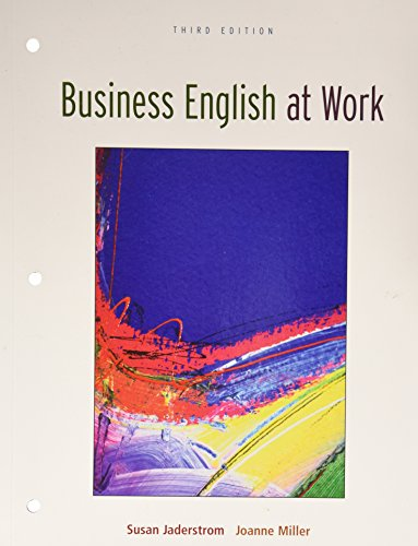 Business English at Work, Jaderstrom, Susan; Miller, Joanne
