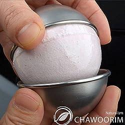 Bath Bomb Ball Molds Bath Fizzies Stainless Steel Molds 2pieces Per 1set D2.56inch/6.5cm