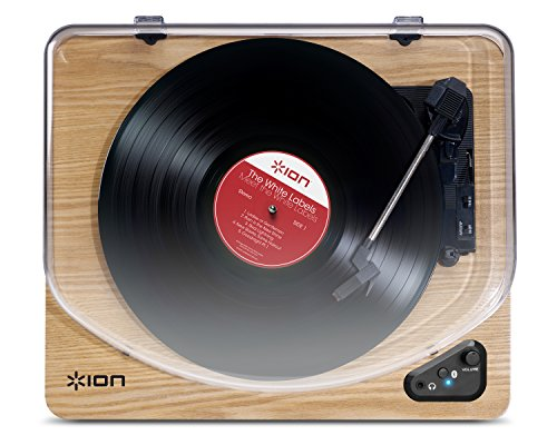 ion audio air lp wood platine vinyle et convertisseur sans fil avec bluetooth connexion usb. Black Bedroom Furniture Sets. Home Design Ideas