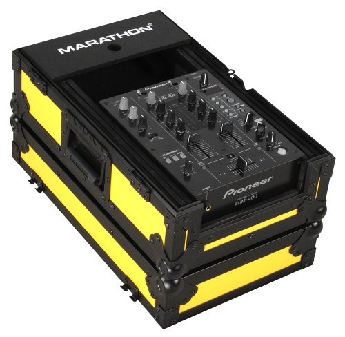 Marathon Flight Road Case MA-10MIXBLKYLW Yellow - Black Series - 10-Inch Dj MiXer Case Fits Large Format 10-Inch Size Mixers Such As Rane Ttm-56s, Ttm57sl, Pioneer Djm-400, Djm-909, Numark, VestaX, And All Other 10-Inch Brands