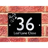 Executive Address Plaque | House Number | Black and Silverby Acrylic Master