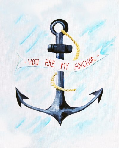 Cici Art Factory You are my Anchor Wall Decor, Blue