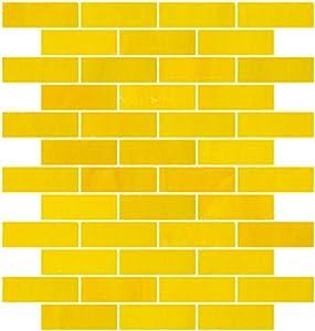susan jablon mosaics 1x3 inch opaque sunshine yellow