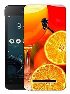 "Humor Gang Citrus Fruits And Juices Printed Designer Mobile Back Cover For ""Asus Zenfone 6"" (3D, Matte, Premium Quality Snap On Case)"