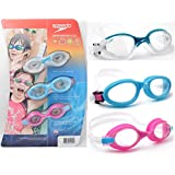 Speedo Youth/Children's Swim Goggles - 3 Goggle Value Pack