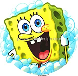 1/4 Sheet ~ Spongebob Squarepants Bubbles Birthday ~ Edible Image Cake/Cupcake Topper!!!