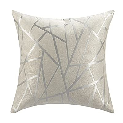 "IYUEGOU Modern Style White Striped Polyester Geometric Decorative Pillow Cover (18 ""X18 "")"