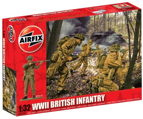 Airfix A02718 1:32 Scale British Infantry Figures Classic Kit Series 2 - 1