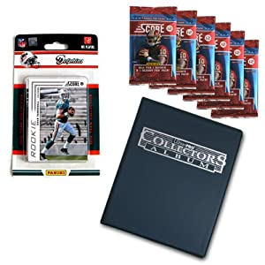 NFL Miami Dolphins Complete 2012 Score Team Set with Bonus Packs and Album by Panini