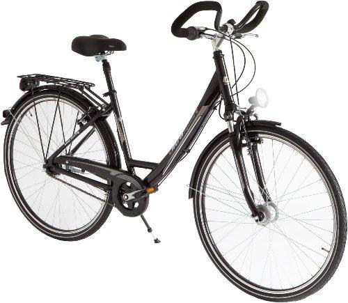 Damen Aluminium City-Fahrrad, 7 Gang, Reifengröße: 28 Zoll (71,1 cm), schwarz, 30900000082