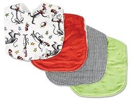 Trend Lab Dr. Seuss Cat in the Hat Bib Set, Red, Green