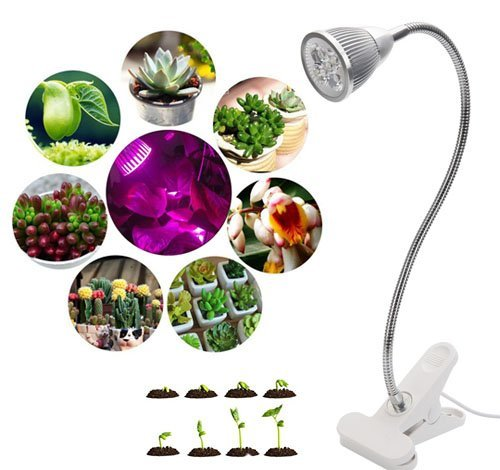 Kshioe led indoor plant grow light glogro grow light for Indoor gardening light bulbs