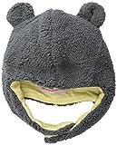 Magnificent Baby Baby-Boys Infant Fleece Bear Hat, Ash/Lemon, 12-18 Months