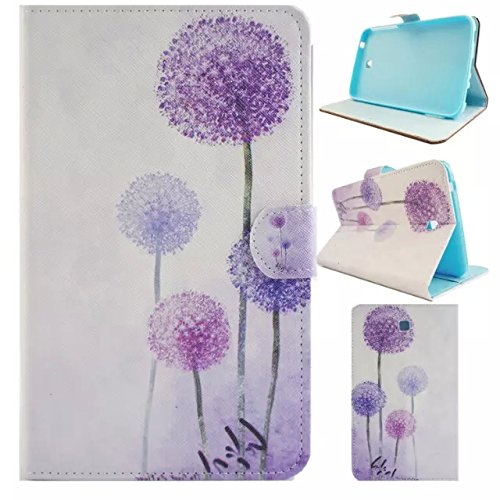 Fasinon Stand Wallet Case for Samsung Galaxy Tab 3 7.0 T210/T217/P3200/P3210 with Free Gift from UUcovers(TM),[not Fit Galaxy Tab 3 Lite SM-T110 ] (Purple Dandelion)