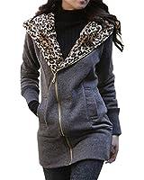 Minetom Nouveau Femmes Encapuchonne Manches Longues Sweat Zipper Automne Dames Manteau Hiver Sweat Shirt