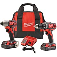 Milwaukee M18 18-Volt Compact Drill and Impact Driver Combo Kit (2691-22)
