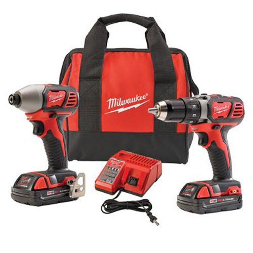 Milwaukee 2691-22 18-Volt Compact Drill and Impact Driver Combo Kit via Amazon