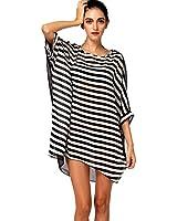 FINEJO Women Bikini Swimwear Cover-Up Beach Dress Lady Oversized Chiffon Bathing Suit
