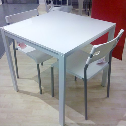 Ikea table and 2 chairs set white dining kitchen modern for White kitchen dining chairs