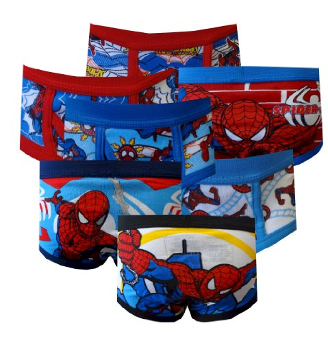 Marvel Comics Spiderman Boys Toddler 7 Pack Briefs For Boys (2T-3T) back-475019