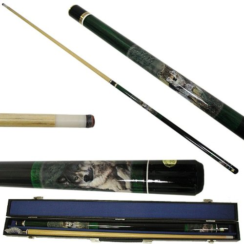 New Trademark Wolf Designer Hardwood Billiard Cue