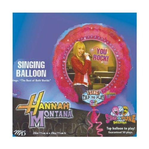 Hannah Montana Singing Balloon - The Best of Both Worlds - 1
