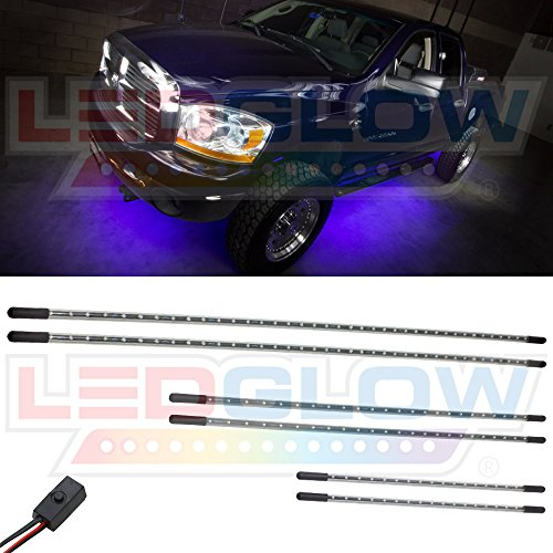 Purple Solid Illumination Slimline Truck Underbody Kit