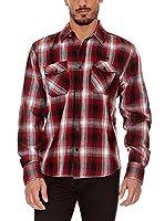 BIAGGIO Camisa Hombre Charvet (Rojo / Negro)