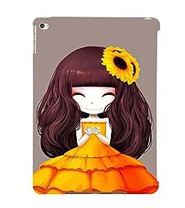 EPICCASE sunflower cute girl Mobile Back Case Cover For Apple Ipad 6 (Designer Case)
