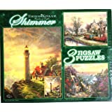 Ceaco Thomas Kinkade Shimmer 3 Puzzles Box Set Glitter Puzzle (The Guiding Light, The Village Lighthouse & Lamplight... at Sears.com