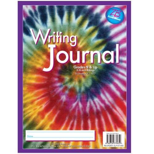 Zaner-Bloser Writing Journal, Grade 4 and Up, Swirling Tie-Die (677465)