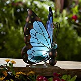Solar Butterfly Decoration - Teal.Suitable for every yard and garden. Beautiful and exquisite jewel for your interior and exterior design.