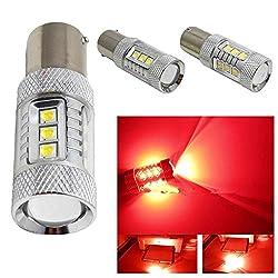 See 10Pcs 80w Red Cree 1156 BAU15S LED Auto Car Rear Backup LED Turn Brake Lights Bulb Details