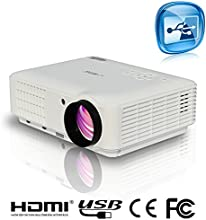 EUG 88W 1080p Projector LED HDMI 3D Full HD Portable Home Cinema Theater Digital Image Video System