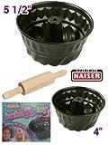WMF / Kaiser Bakeware La Forme Select - Bake & Play 3 Piece Children Baking Set, Kids Friendly - Bundforms & Rolling Pin