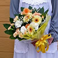 54【父の日ギフト6/14から6/16のお届け】スタンド型花束・ブーケ型アレンジ・イエロー系