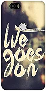 The Racoon Lean life goes on hard plastic printed back case / cover for Huawei Nexus 6P