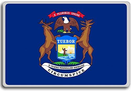 Flag Of Michigan - Flags of the U.S. states fridge magnet - Calamita da frigo