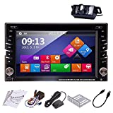 Rear Camera Included Ouku 2014 New Model 6.2-Inch Double-2 DIN In Dash Car DVD Player Touch screen LCD Monitor with DVD/CD/MP3/MP4/USB/SD/AMFM/RDS Radio/Bluetooth/Stereo/Audio and GPS Navigation SAT NAV Head Deck Tape Recorder Wall Paper exchange HD:800*480 LCD+Windows Win 8 UI Design Free GPS Antenna+Free Official Kudo GPS Map+Free Backup Camera
