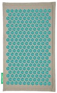 tapis fleur champ de fleurs naturel turquoise. Black Bedroom Furniture Sets. Home Design Ideas