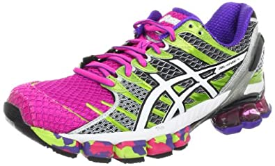 ASICS Women's GEL-Kinsei 4 Running Shoe,Hot Pink/White/Lime,9.5 M US
