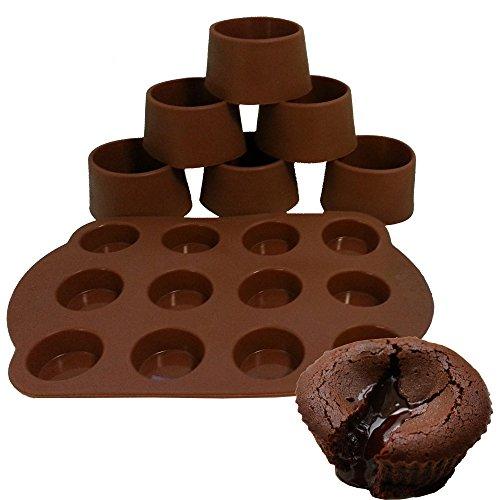 Daudignac - Kit à fondant au chocolat 6 moules individuels