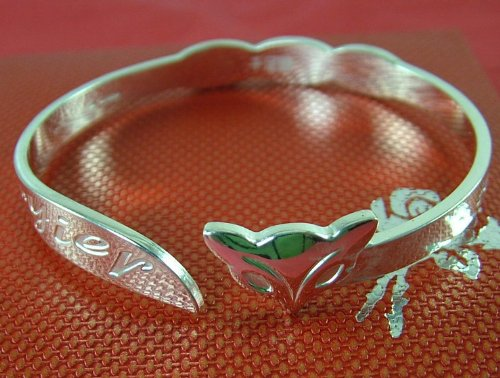 Fully Hallmarked and gift boxed, SOLID 999 PURE SILVER, Heavy 20g curled FOX bangle / bracelet