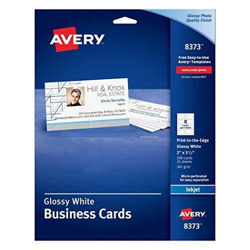 avery templates 8373 - avery glossy photo quality business cards for inkjet
