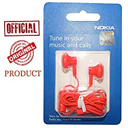 Nokia Original Genuine Nokia Wh-108 Red Color In The Ear Headset Hands free Universal For Samsung Nokia Blackberry Lava LG HTC Karbonn Micromax