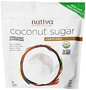 Nutiva Organic Sugar, Coconut, 1 Pound (Pack of 3)
